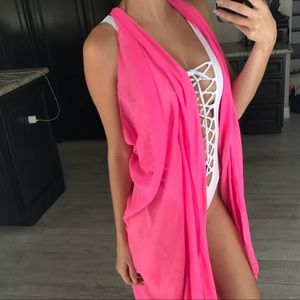 Other - Neon pink cover up